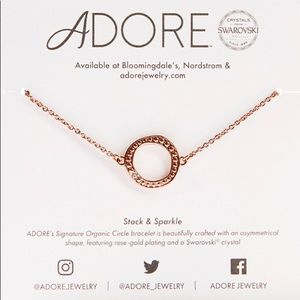Adore Rose gold Swarovski circle bracelet *new